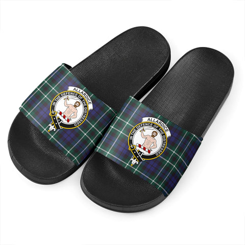 Tartan Slide Sandals - Allardice Clans - Black Version