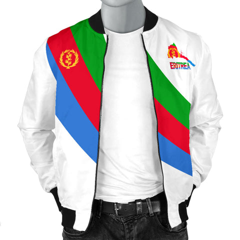 Image of Eritrea Men's Bomber Jacket Special Flag A7