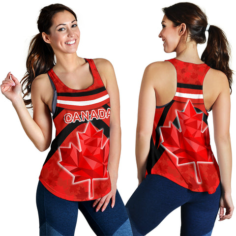 Canada Women Racerback Tank - Vibes Version K8