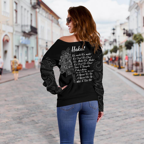 New Zealand Off Shoulder Sweater Ka Mate Haka Lyrics A7