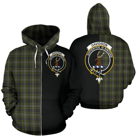 Image of (Custom your text) Davidson Tulloch Dress Tartan Hoodie Half Of Me TH8