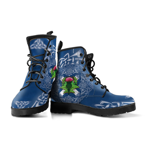 Scotland Leather Boots - Saltire Thistle