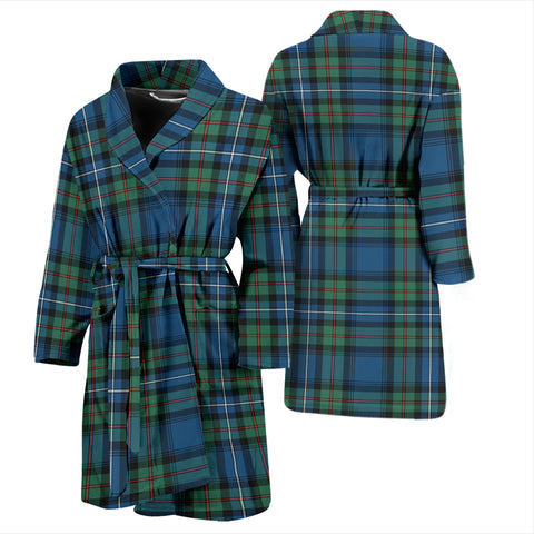 Robertson Hunting Ancient Bathrobe - Men Tartan Plaid Bathrobe Universal Fit