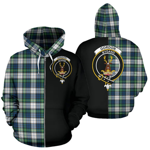 (Custom your text) Gordon Dress Ancient Tartan Hoodie Half Of Me TH8