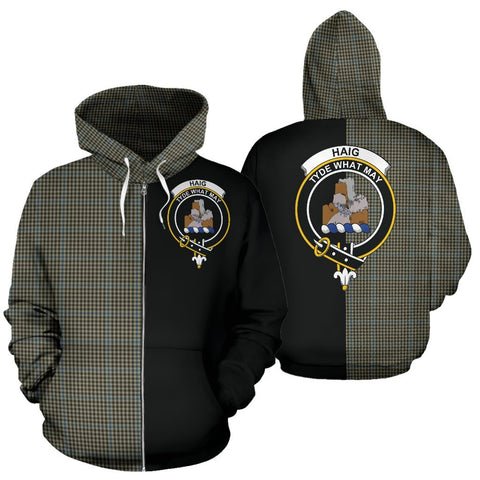 Image of (Custom your text) Haig Check Tartan Hoodie Half Of Me TH8