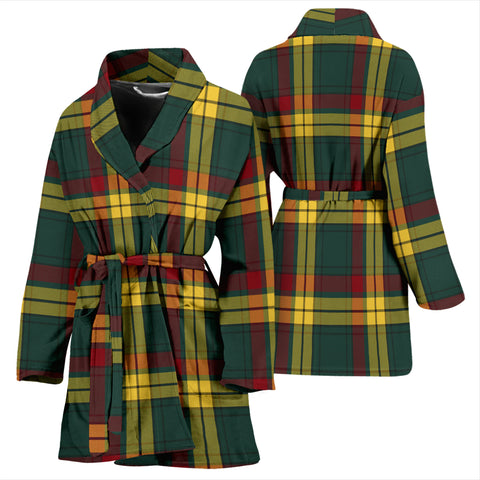 Macmillan Old Modern Bathrobe - Women Tartan Plaid Bathrobe Universal Fit