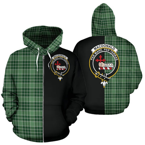 (Custom your text) MacDonald Lord of the Isles Hunting Tartan Hoodie Half Of Me TH8