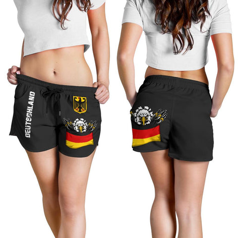(Deutschland) Germany Women'S  Shorts National Eagle A7 | 1sttheworld.com