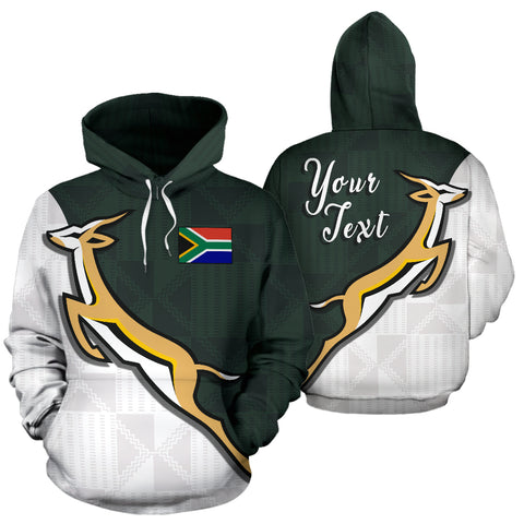 South Africa Springboks Forever Personalized Hoodie front and back
