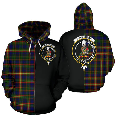 (Custom your text) MacLellan Modern Tartan Hoodie Half Of Me TH8