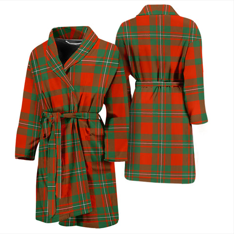 Macgregor Ancient Bathrobe - Men Tartan Plaid Bathrobe Universal Fit