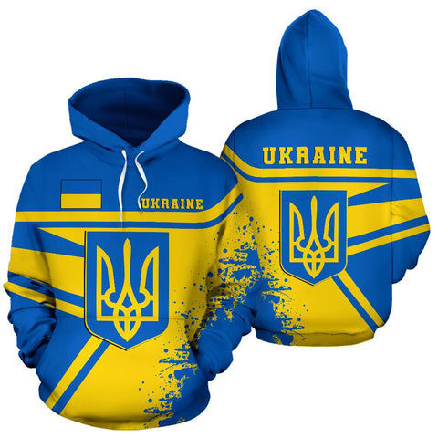 Image of Ukraine Hoodie Painting Style Th52