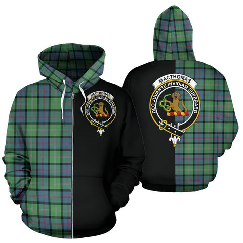 (Custom your text) MacThomas Ancient Tartan Hoodie Half Of Me TH8