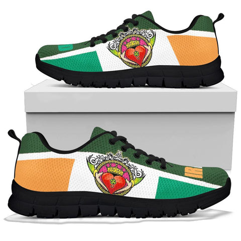 Image of Celtic Ireland Sneakers - Ireland Flag With Claddagh Ring - BN21