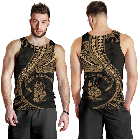 New Caledonia Men's Tank Top Kanaloa Tatau Gen NC (Gold) TH65