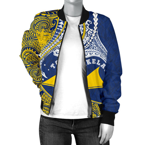 Image of Tokelau Women's Bomber Jacket Manta Polynesian TH65