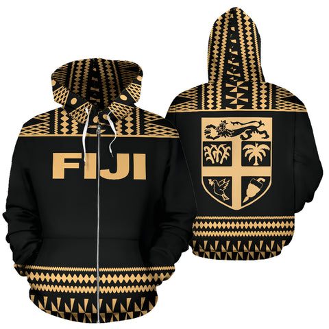 Fiji Tapa All Over Zip-Up Hoodie - BN09