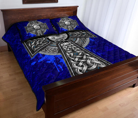 Cairns Crest Scottish Celtic Cross Scotland Quilt Bed Set | Over 300 Clans | Home Set