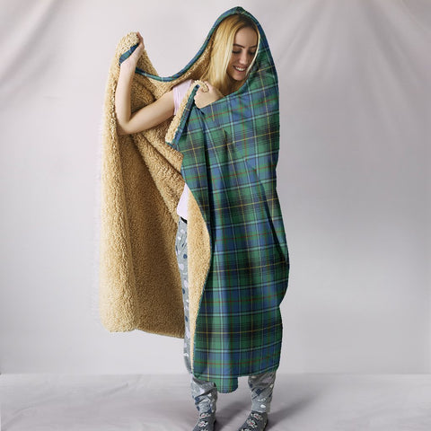 MacInnes Ancient, hooded blanket, tartan hooded blanket, Scots Tartan, Merry Christmas, cyber Monday, xmas, snow hooded blanket, Scotland tartan, woven blanket