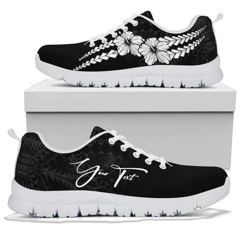 Image of (Custom) Polynesian Sneakers Hibiscus Personal Signature White