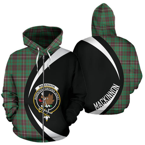 Image of MacKinnon Hunting Ancient Tartan Circle Zip Hoodie HJ4