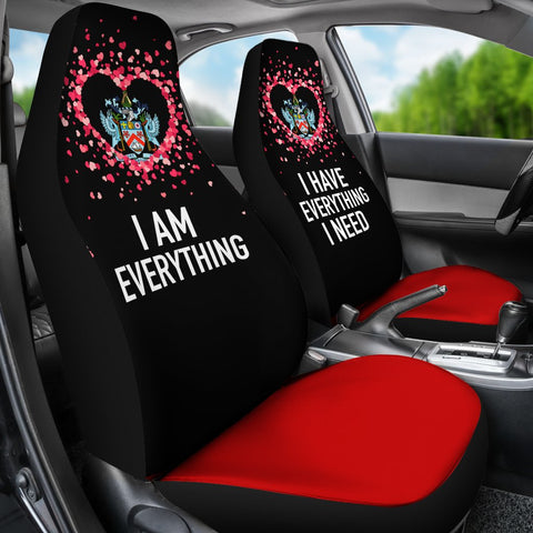 Saint Kitts and Nevis Car Seat Covers Couple Valentine Everthing I Need (Set of Two) | 1sttheworld