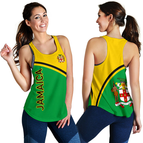 Image of Jamaica Women's Racerback Tank - Curve Version - BN04