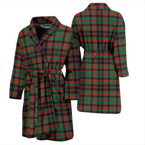 Cumming Hunting Ancient Bathrobe - Men Tartan Plaid Bathrobe Universal Fit