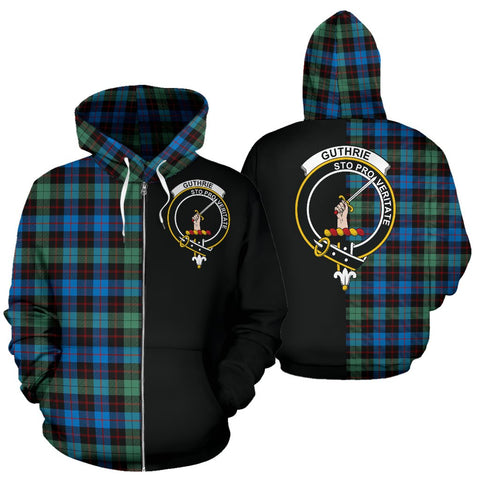 Guthrie Ancient Tartan Hoodie Half Of Me TH8