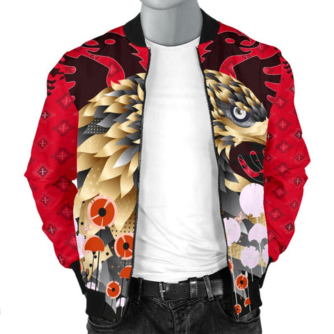 Happy Albania Independence Day Men's Bomber Jacket - Albania Golden Eagle - BN21