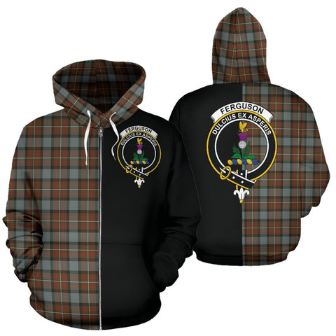 (Custom your text) Fergusson Weathered Tartan Hoodie Half Of Me TH8