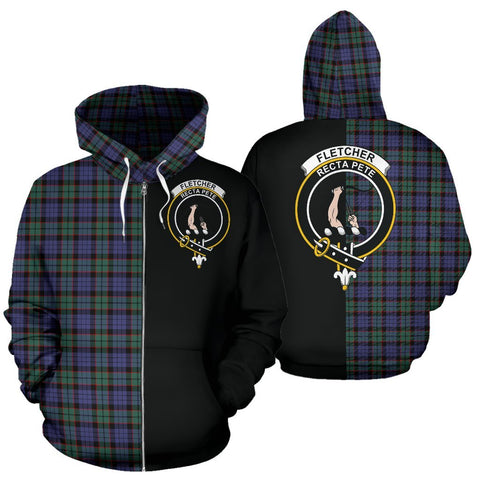 (Custom your text) Fletcher Modern Tartan Hoodie Half Of Me TH8