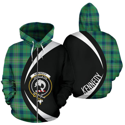 Kennedy Ancient Tartan Circle Zip Hoodie HJ4