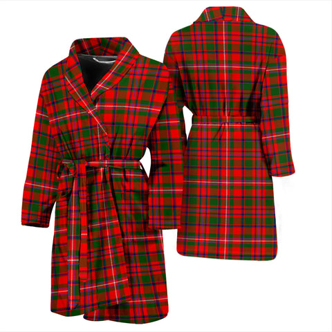 Mackinnon Modern Bathrobe - Men Tartan Plaid Bathrobe Universal Fit