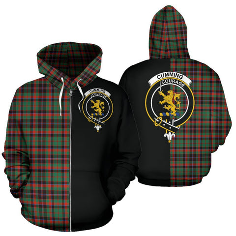 (Custom your text) Cumming Hunting Ancient Tartan Hoodie Half Of Me TH8
