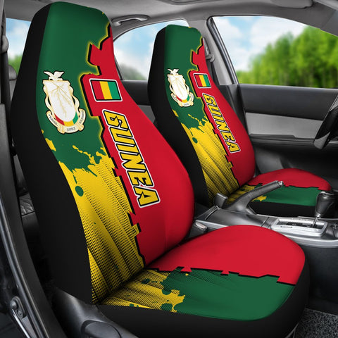 Guinea Car Seat Covers - Independence Day