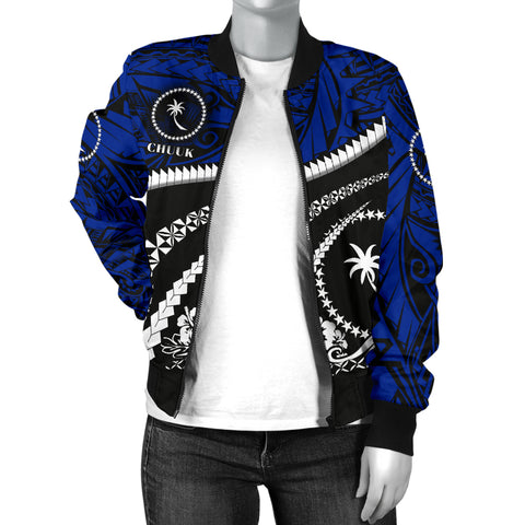 Image of Chuuk Women Bomber Jacket - Road to Hometown K4