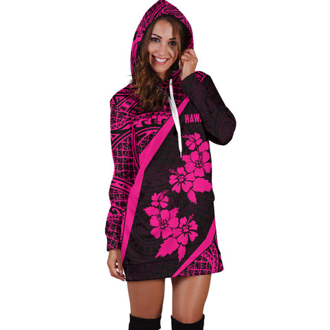 Hawaii Polynesian Women's Hoodie Dress Hibiscus Pink Th5 |Women's Clothing| 1sttheworld