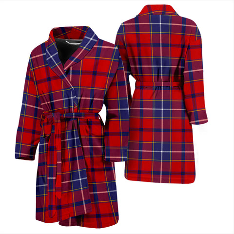 Image of Wishart Dress Bathrobe - Men Tartan Plaid Bathrobe Universal Fit