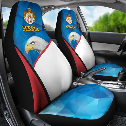 Serbia Car Seat Covers White Eagle Version K12