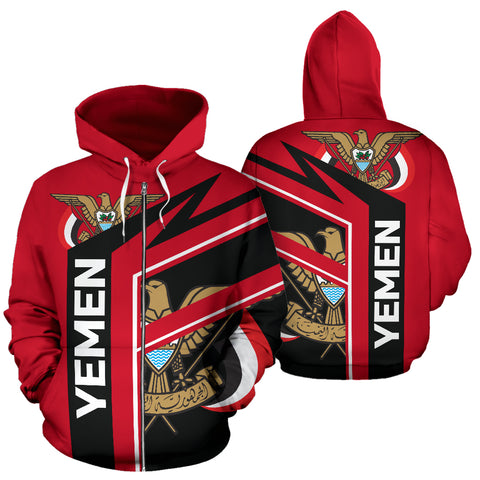 Yemen Air Zip-Up Hoodie | 1sttheworld.com