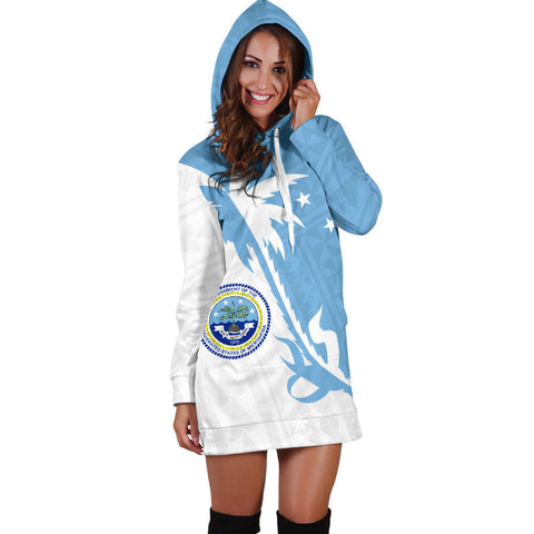 Federated States of Micronesia Coconut Tree Hoodie Dress K4 |Women's Clothing| 1sttheworld