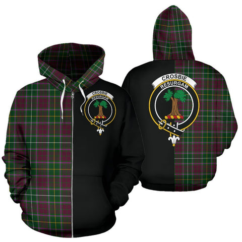 (Custom your text) Crosbie Tartan Hoodie Half Of Me TH8