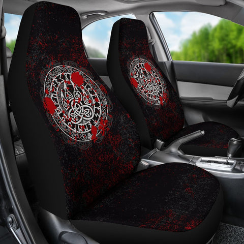 Vikings Wolf Car Seat Covers A27