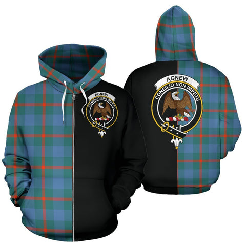 (Custom your text) Agnew Ancient Tartan Hoodie Half Of Me TH8