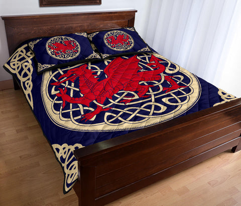 Wales Quilt Bed Set - Welsh Dragon Quilt Bed - BN02