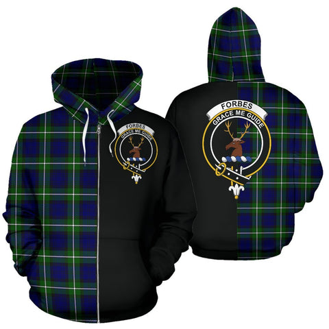 (Custom your text) Forbes Modern Tartan Hoodie Half Of Me TH8