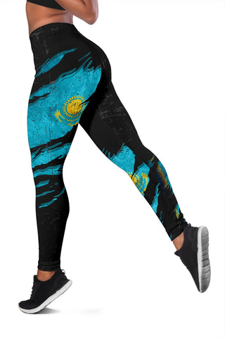 Image of Kazakhstan In Me Women's Leggings - Special Grunge Style A31