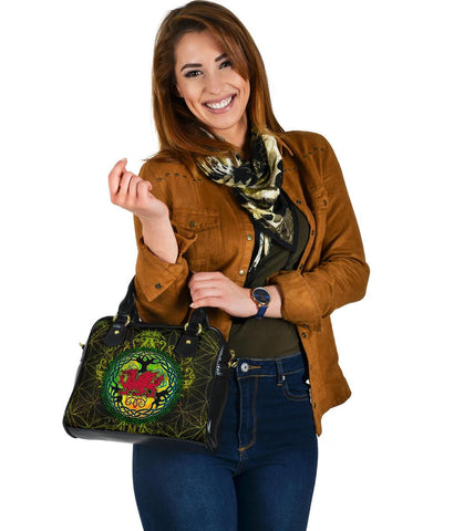 Wales Celtic Shoulder Handbag - Cymru Tree of Life