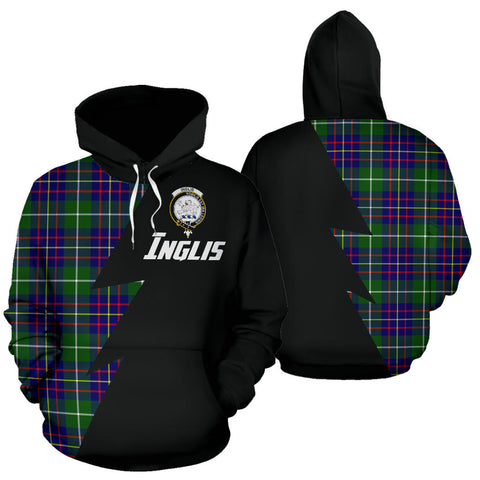 Image of Tartan All Over Hoodie - Inglis Clans Badge - BN